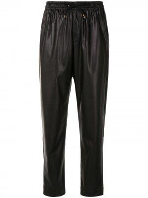 Укороченные брюки Dahlia из искусственной кожи Karen Walker. Цвет: черный