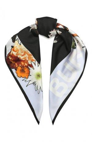 Шелковый платок Burberry. Цвет: разноцветный