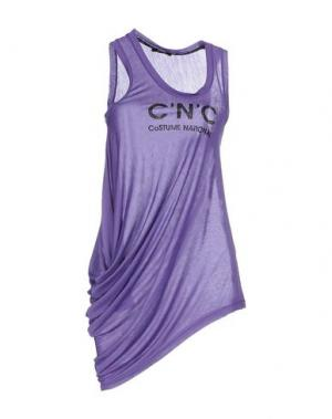 Майка C'N'C' COSTUME NATIONAL. Цвет: фиолетовый