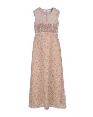 Длинное платье CALVIN KLEIN COLLECTION. Цвет: светло-розовый