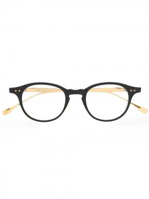 Очки в круглой оправе Dita Eyewear. Цвет: черный