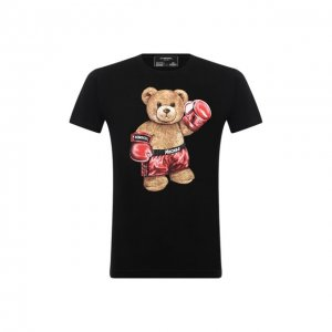 Хлопковая футболка DOMREBEL. Цвет: чёрный