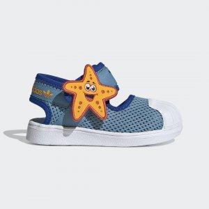 Сандалии Superstar 360 Primeblue Originals adidas. Цвет: белый
