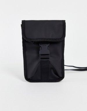 Черная сумка-кошелек с пряжкой 1373-Черный цвет Rains
