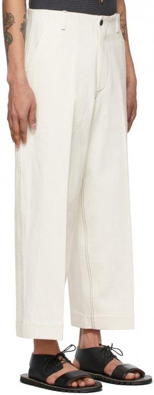Off-White J. Press Originals Edition Straight Leg Jeans Kuro. Цвет: off white