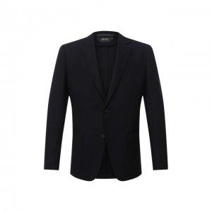 Шерстяной пиджак Z Zegna. Цвет: синий