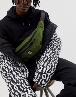 Зеленая сумка-кошелек на пояс AAPE By A Bathing Ape. Цвет: зеленый