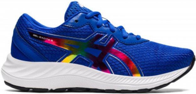 Кроссовки для девочек Gel-Excite 8 GS, размер 34 ASICS. Цвет: синий