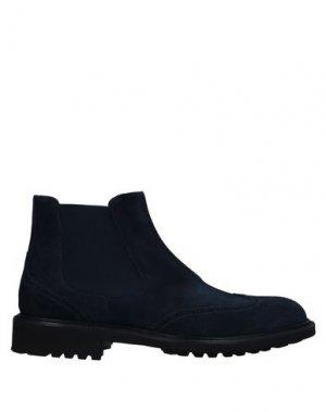 Полусапоги и высокие ботинки BRUNO MAGLI. Цвет: темно-синий