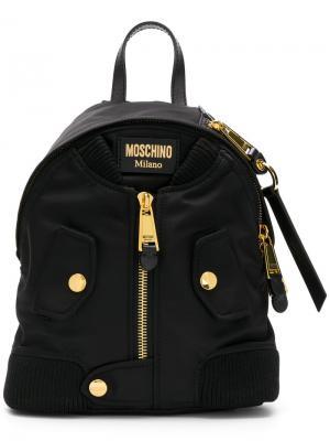Рюкзак в виде куртка-бомбера Moschino. Цвет: чёрный