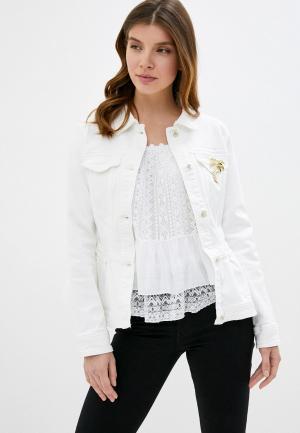Куртка джинсовая Guess Jeans. Цвет: белый
