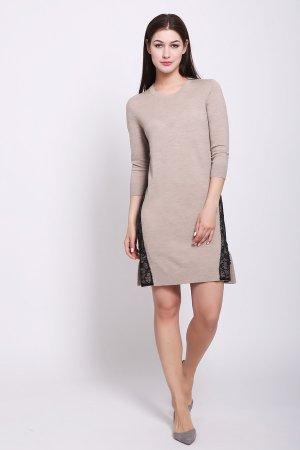 Платье Just Valeri. Цвет: бежевый