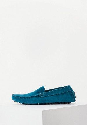 Мокасины Pollini. Цвет: синий
