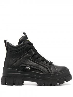 Массивные ботинки на шнуровке Buffalo. Цвет: черный