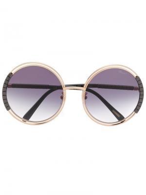 Солнцезащитные очки SCHC79 Chopard Eyewear. Цвет: золотистый