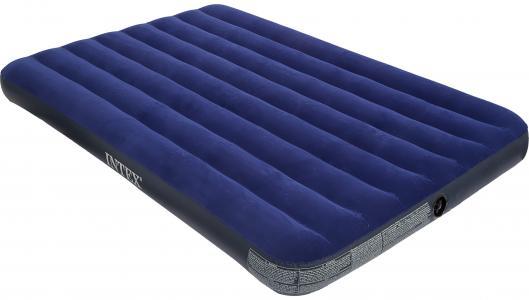 Матрас надувной Classic Downy Bed Full Intex. Цвет: синий