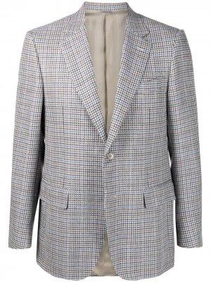 Однобортный пиджак в клетку Canali. Цвет: серый