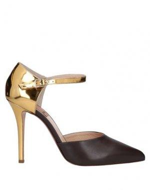 Туфли KALLISTÈ. Цвет: темно-коричневый