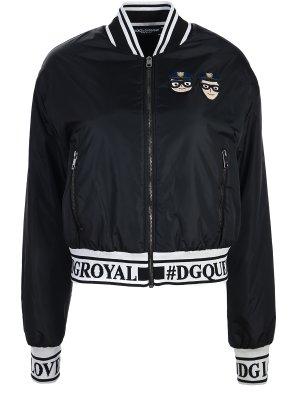 Куртка-бомбер укороченная DOLCE & GABBANA. Цвет: разноцветный