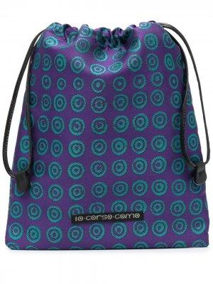 Косметичка с геометричным принтом 10 CORSO COMO. Цвет: фиолетовый