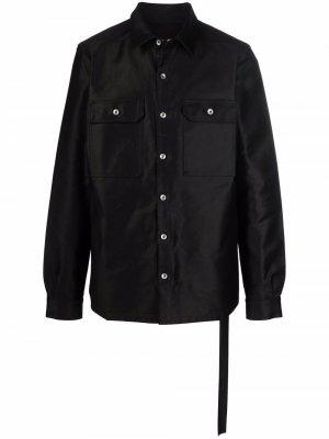 Куртка-рубашка на пуговицах Rick Owens DRKSHDW. Цвет: черный