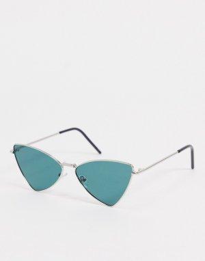 Серебристые солнцезащитные очки кошачий глаз -Серебряный Jeepers Peepers