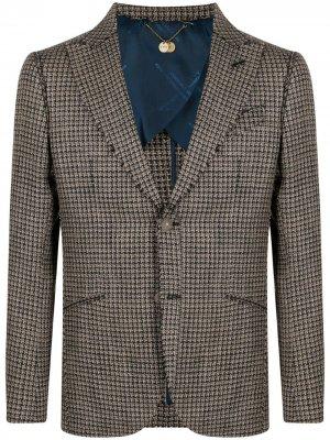 Пиджак в ломаную клетку Maurizio Miri. Цвет: нейтральные цвета