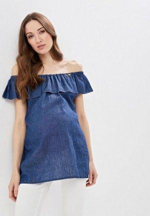 Блуза Очаровательная Адель. Цвет: синий