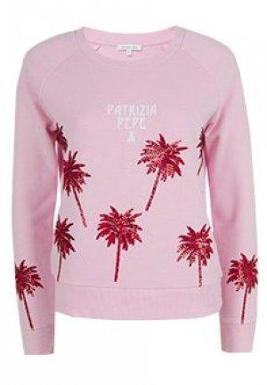 Свитшот PATRIZIA PEPE. Цвет: розовый