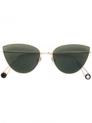 Солнцезащитные очки кошачий глаз Ahlem. Цвет: золотистый