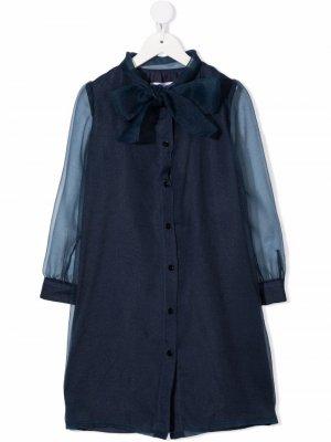 Tie-fastening shirt dress Señorita Lemoniez. Цвет: синий