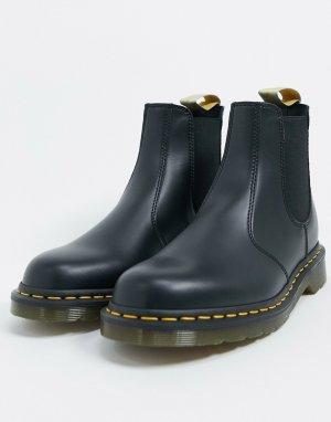 Черные ботинки челси из искусственной кожи -Черный Dr Martens