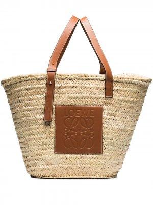 Большая сумка из рафии LOEWE. Цвет: нейтральные цвета