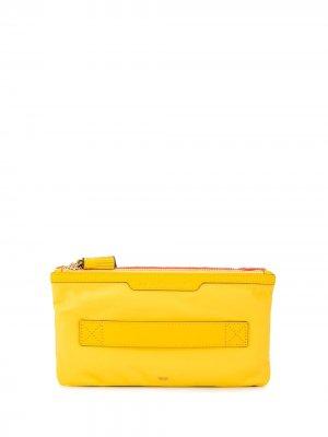 Клатч Filing Cabinet Anya Hindmarch. Цвет: желтый