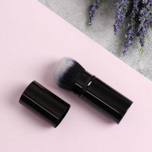 Кисть для макияжа, выдвижная, 10 см, цвет чёрный Queen fair