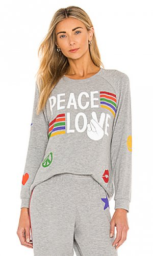 Пуловер every peace love Lauren Moshi. Цвет: серый