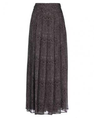 Длинная юбка COMPAGNIA ITALIANA. Цвет: темно-коричневый