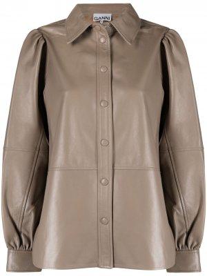 Куртка с пышными рукавами GANNI. Цвет: нейтральные цвета