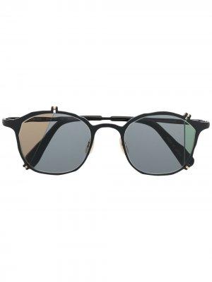Солнцезащитные очки в стиле колор-блок MASAHIROMARUYAMA. Цвет: черный