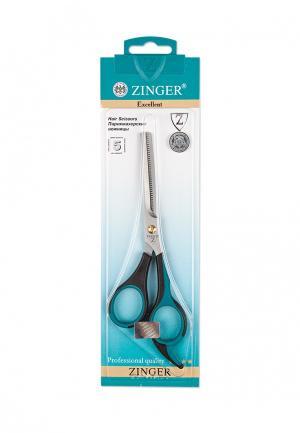 Ножницы парикмахерские Zinger. Цвет: черный
