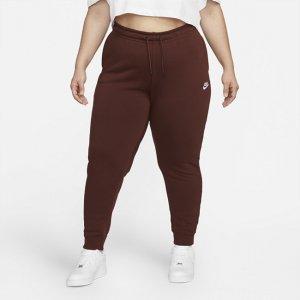 Женские флисовые брюки Sportswear Essential (большие размеры) - Коричневый Nike