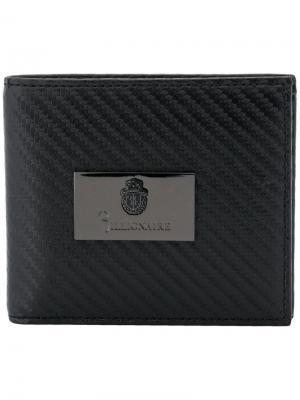 Бумажник с логотипом Billionaire. Цвет: черный
