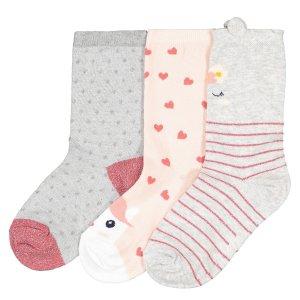 Комплект из 3 пар носков La Redoute. Цвет: серый