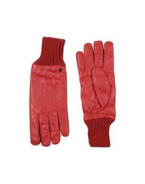 Перчатки VERSACE COLLECTION. Цвет: красный