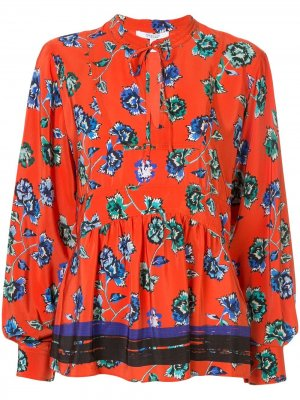 Floral print pleated blouse Derek Lam 10 Crosby. Цвет: красный