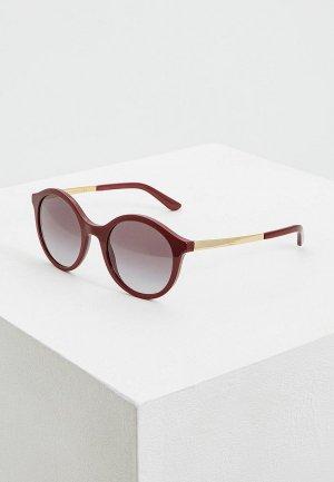 Очки солнцезащитные Dolce&Gabbana DG4358 30918G. Цвет: бордовый