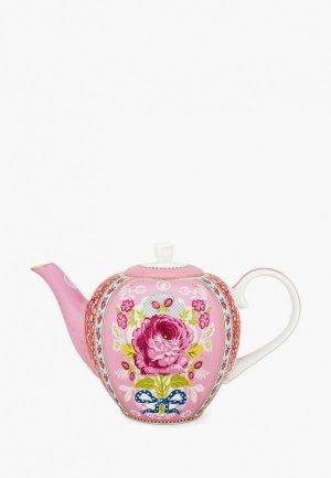 Чайник заварочный Pip Studio Early Bird. Цвет: розовый