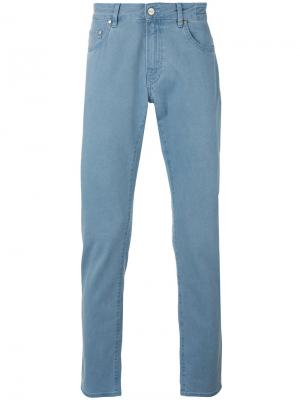 Классические брюки-чинос Pt05. Цвет: синий