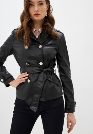 Куртка кожаная Liu Jo White Label. Цвет: черный