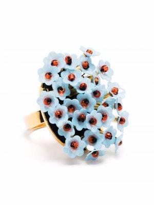 Blossom appliqué ring La Doublej. Цвет: синий